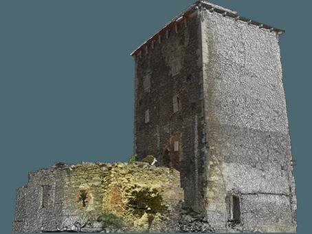 Measure2BIM CAD projekt: Tvrz Hradenín